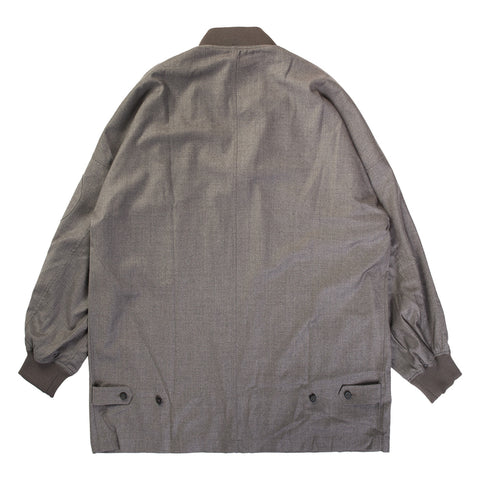OVERSIZED MA-1 WOOL JACKET (OLIVE)