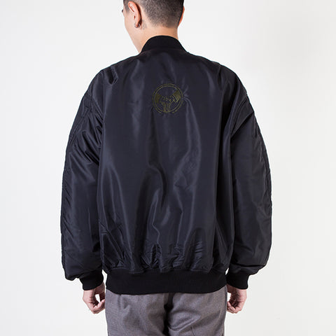 QUILTED MA-1 JACKET W/ EMB N+O