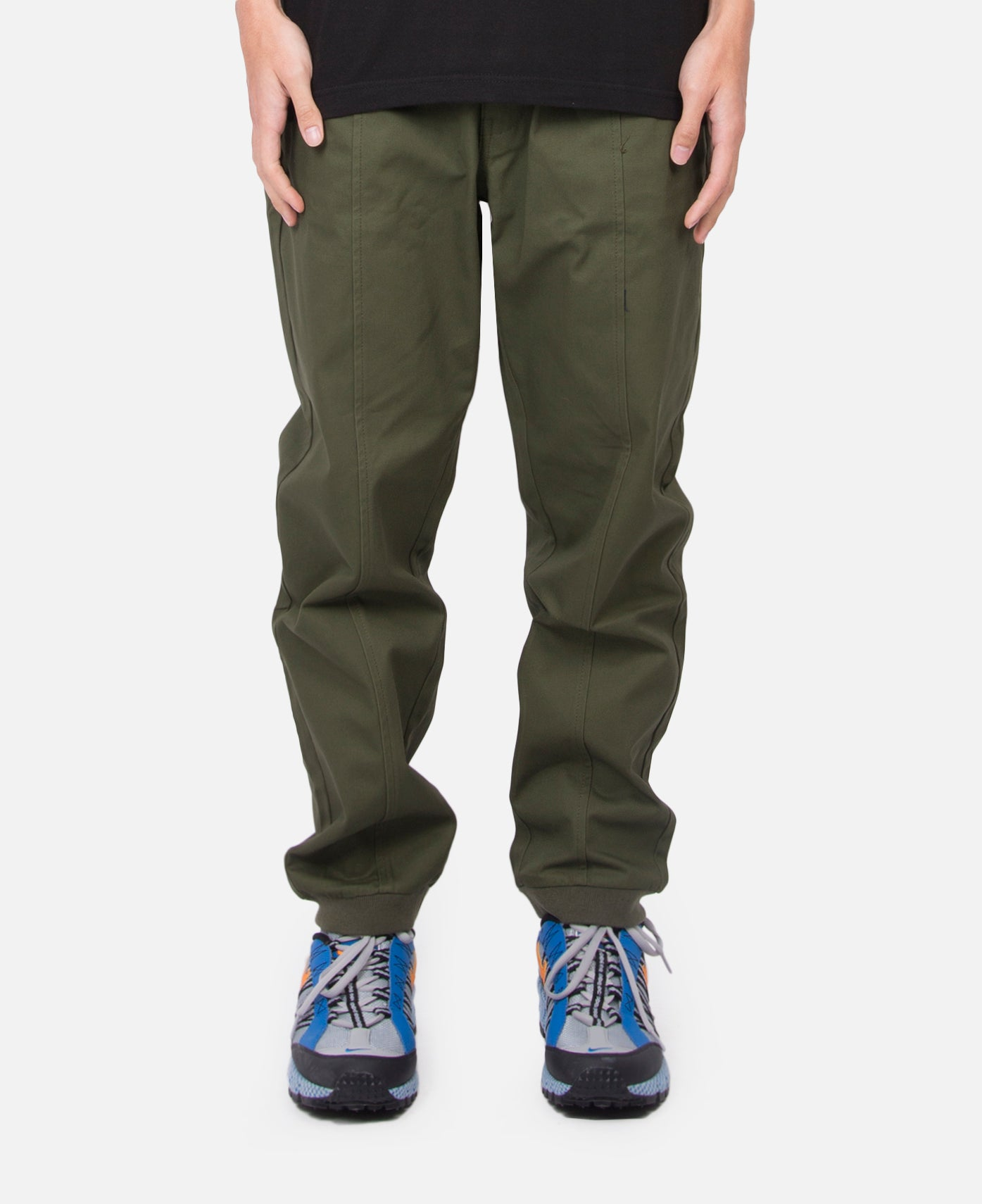 Seamed Cotton Pants (Green)
