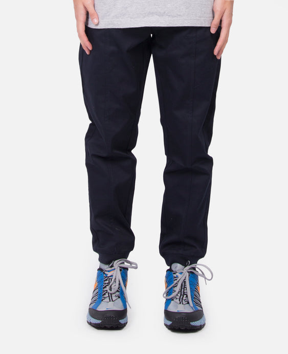 Seamed Cotton Pants (Navy)