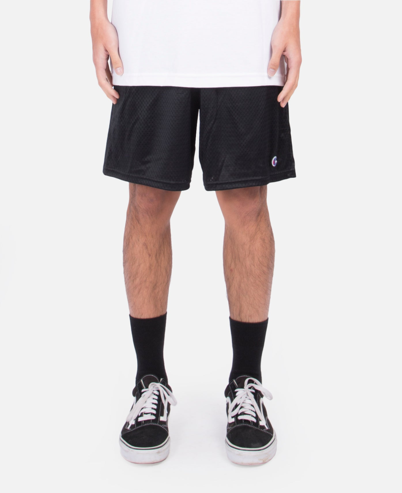 Collegiate Mesh Shorts (Black)