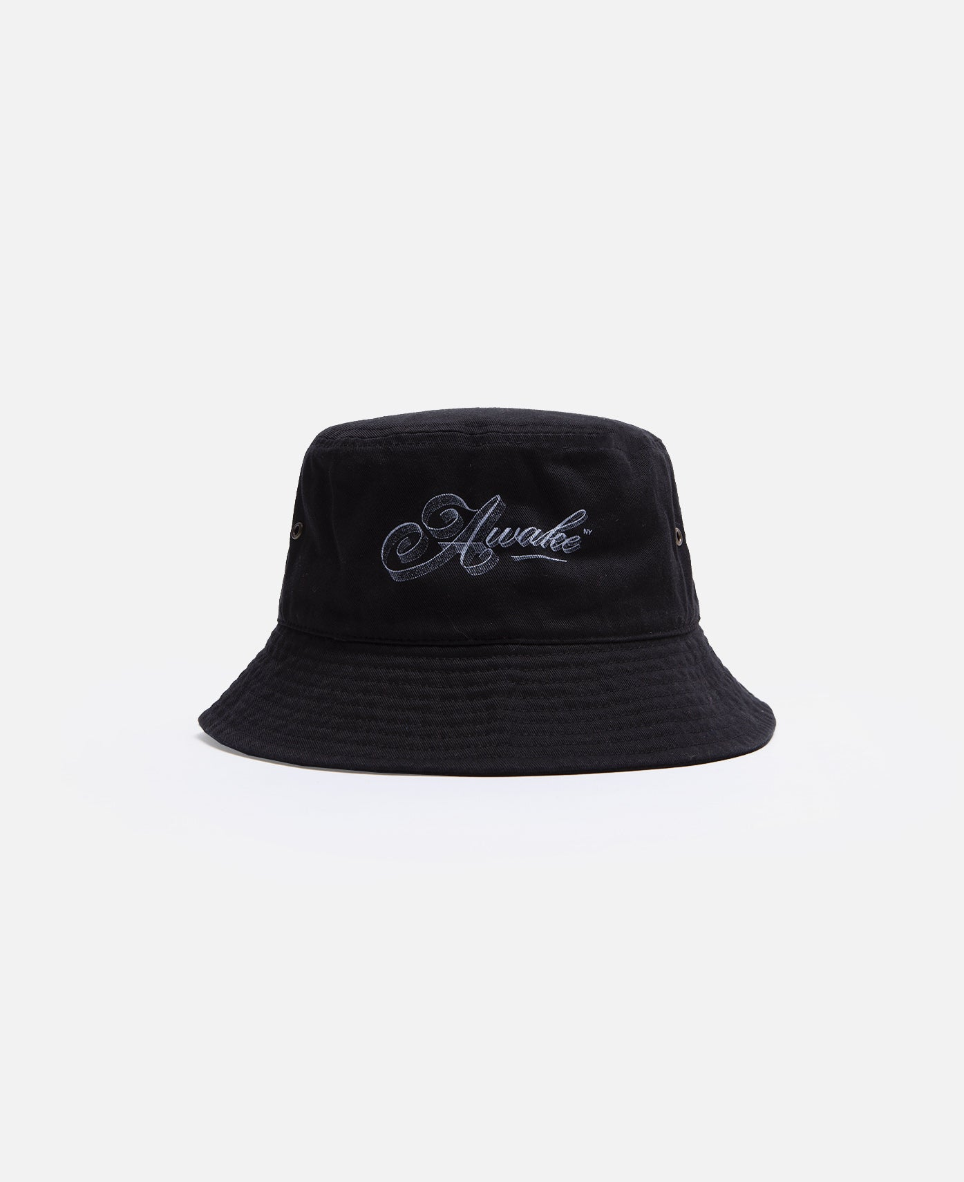 Ribbon Script Logo Bucket Hat (Black)