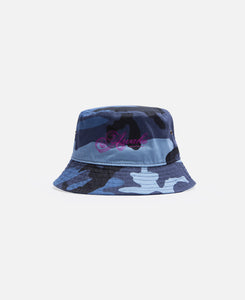 Ribbon Script Logo Bucket Hat (Blue)