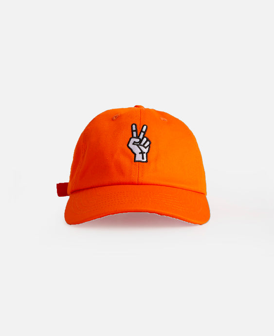 Peace Dad Cap (Orange)