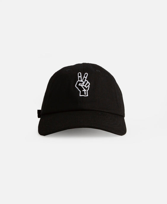 Peace Dad Cap (Black)