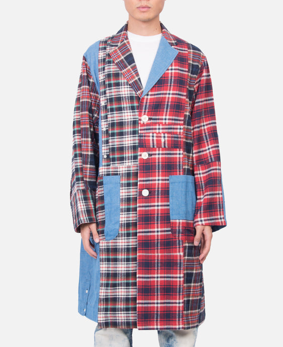 Patchwork Flannel Coat