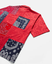 Bandana Shirt (Navy/Red)