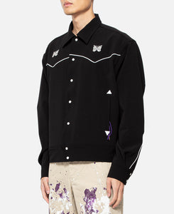 Papillon Emb. Piping Cowboy Shirt (Black)