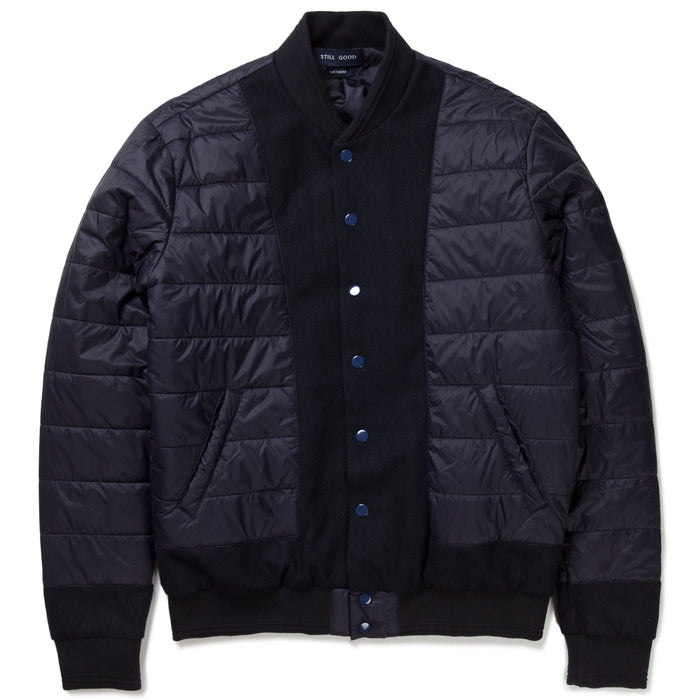 BOMBER JACKET WOOL & NYLON