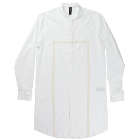 RAW EDGE LONG LINEN JERSEY TOP (WHITE)
