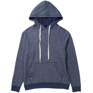 1/S PULLOVER HOODY-COT/POLY (NAVY)
