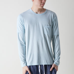 1/S PKT CREW-COT/POLY/RAYON (BLUE)