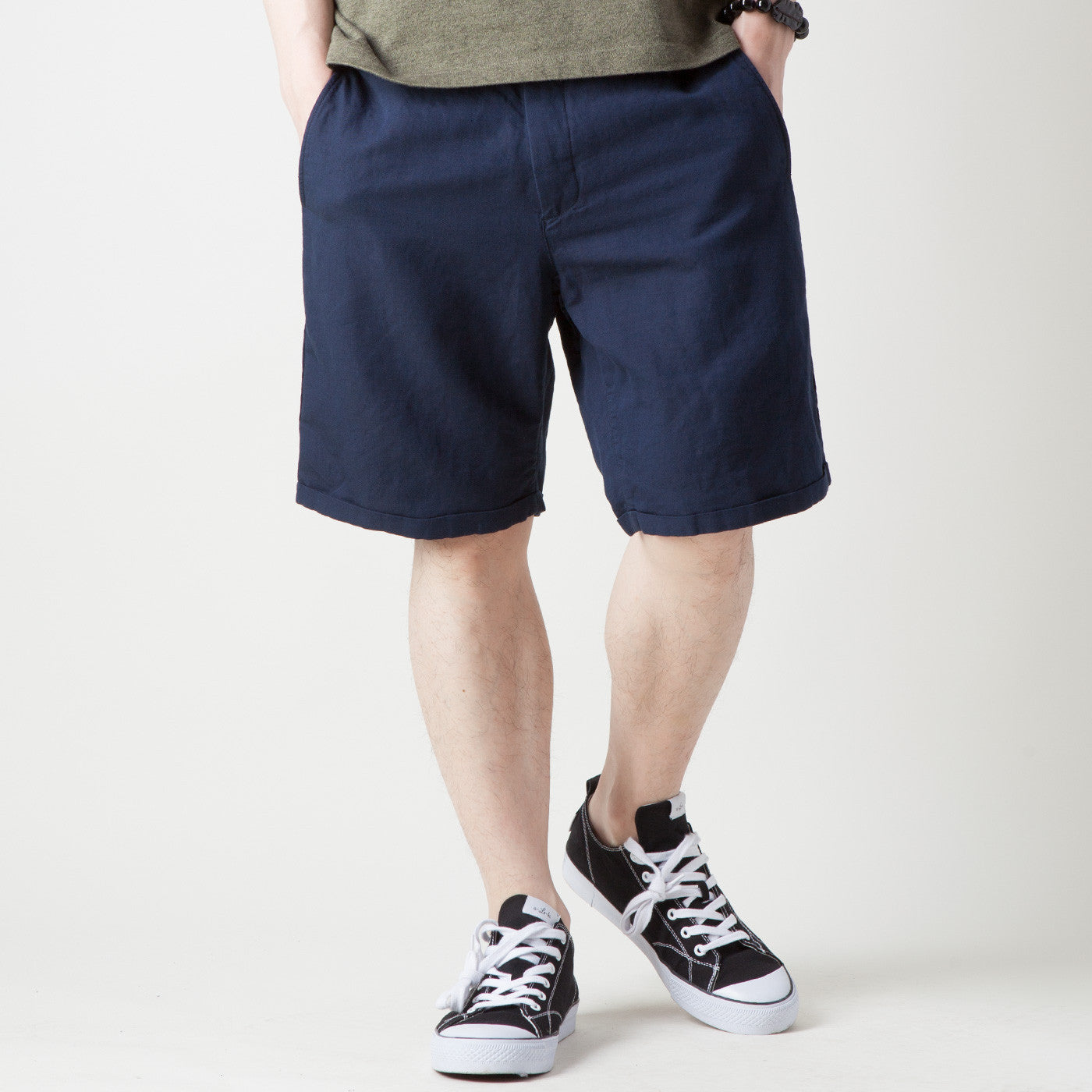 FENRIS SHORT CANVAS PANTS (NAVY)