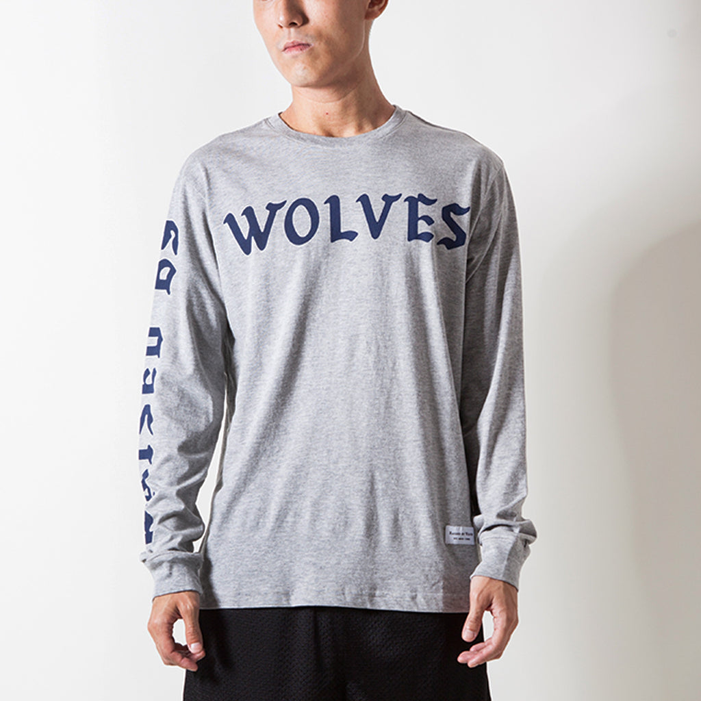 FLOCK LONG SLEEVE T-SHIRT (GREY)