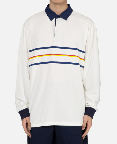 Striped Rugby Polo L/S T-Shirt