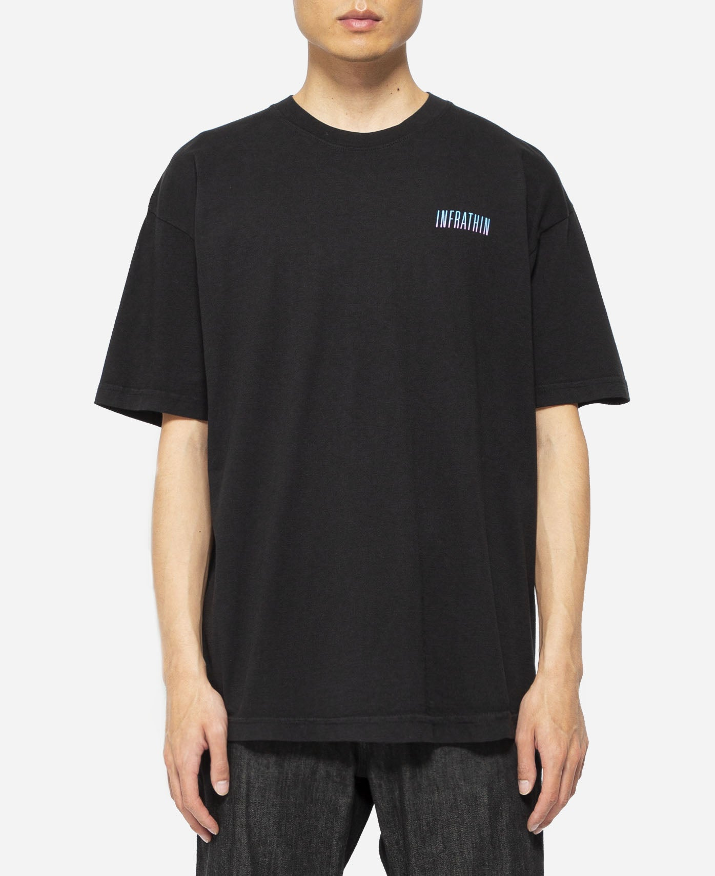 Gradient Logo & Wave T-Shirt (Black)