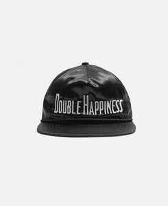 'Double Happiness' Satin Hat (Black)