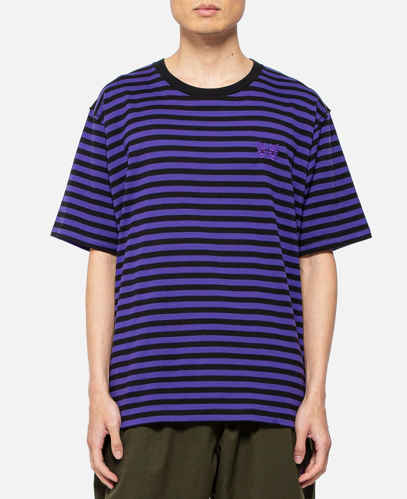 S/S Papillon Emb. T-Shirt (Purple)