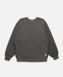 Mix Quilted Sweatshirt (Black)