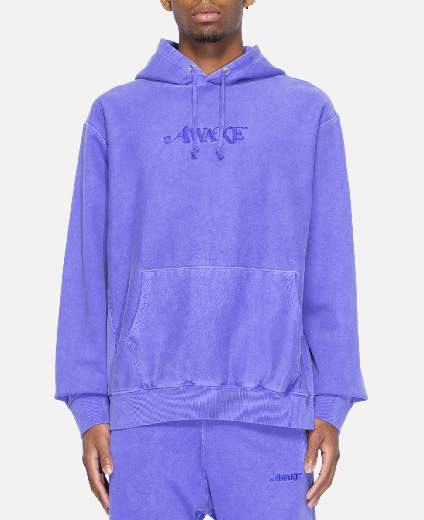 Classic Logo Embroidered Hoodie (Purple)