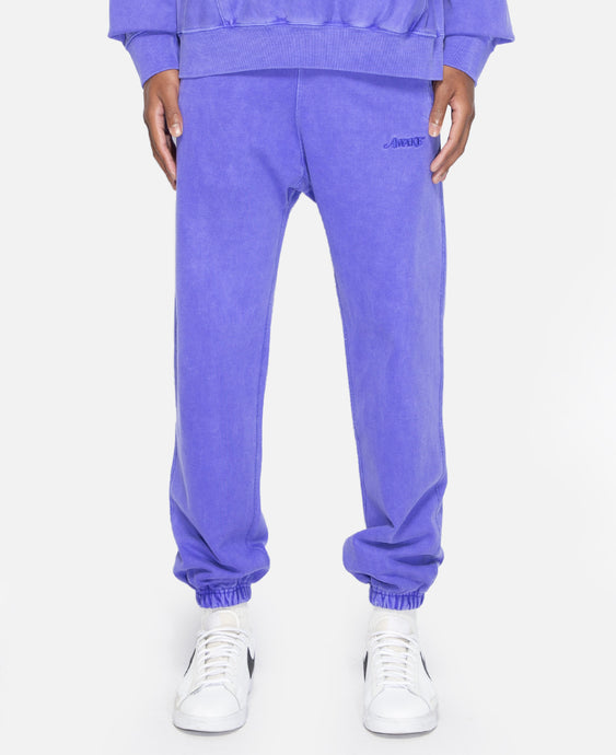 Classic Logo Embroidered Sweatpants (Purple)