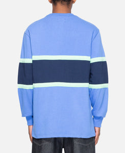 16 Oz Multi Stripe L/S T-Shirt (Blue)