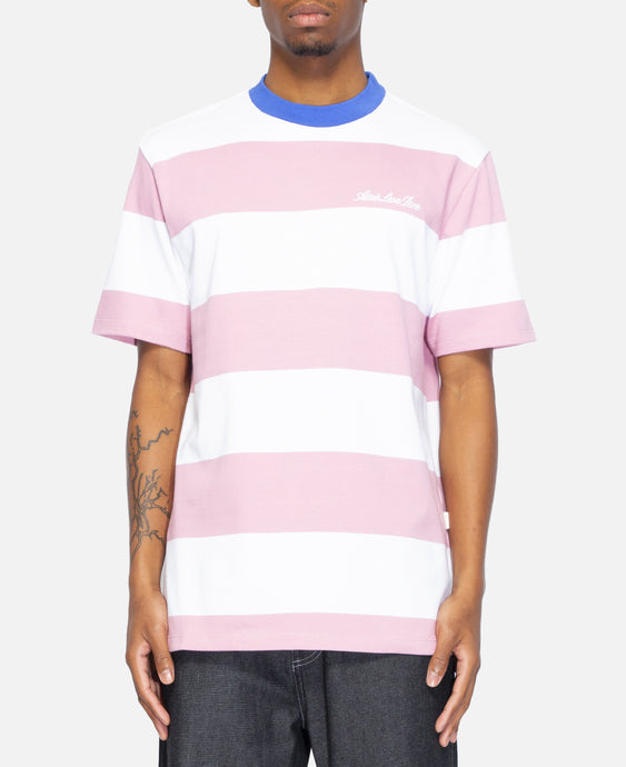 12 Oz Thick Striped T-Shirt (White)
