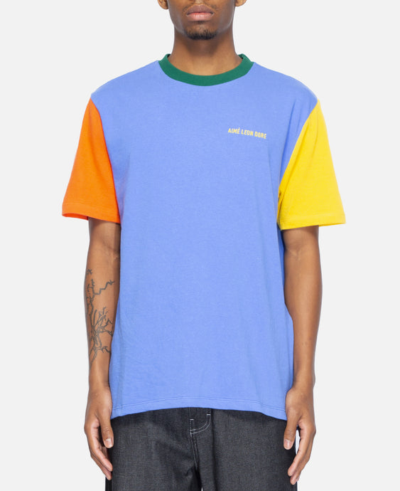 12 Oz S/S Colorblock T-Shirt (Blue)
