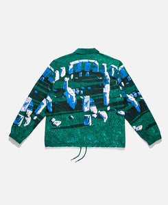 Questions Coaches Jacket (Green)