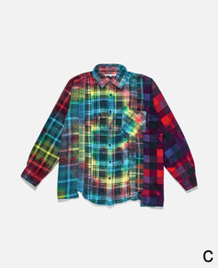 Rebuild By Needles Tie Dye Flannel Shirt