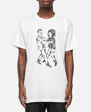 Two Men Fighting Print T-Shirt (White)