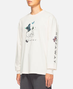 L/S Butterfly T-Shirt (Cream)