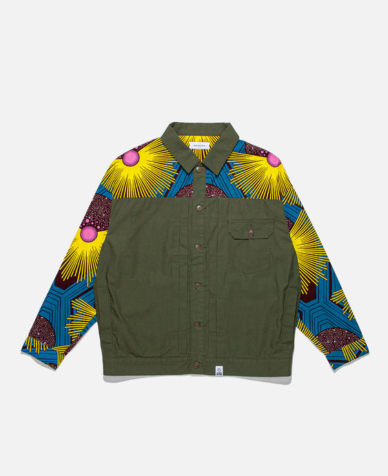 African 1st Type Shirt Jacket (Olive)