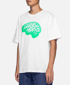 Brain Print S/S T-Shirt (White)