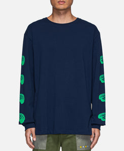 Brain L/S T-Shirt (Navy)