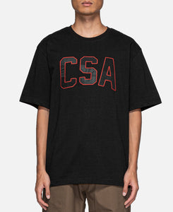 Logo Patchwork S/S T-Shirt (Black)