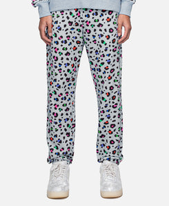 Leopard Multi-Color Sweatpants (Grey)