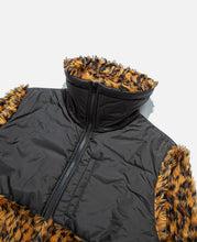 Leopard Print Puffer / Bubble Coat (Yellow)