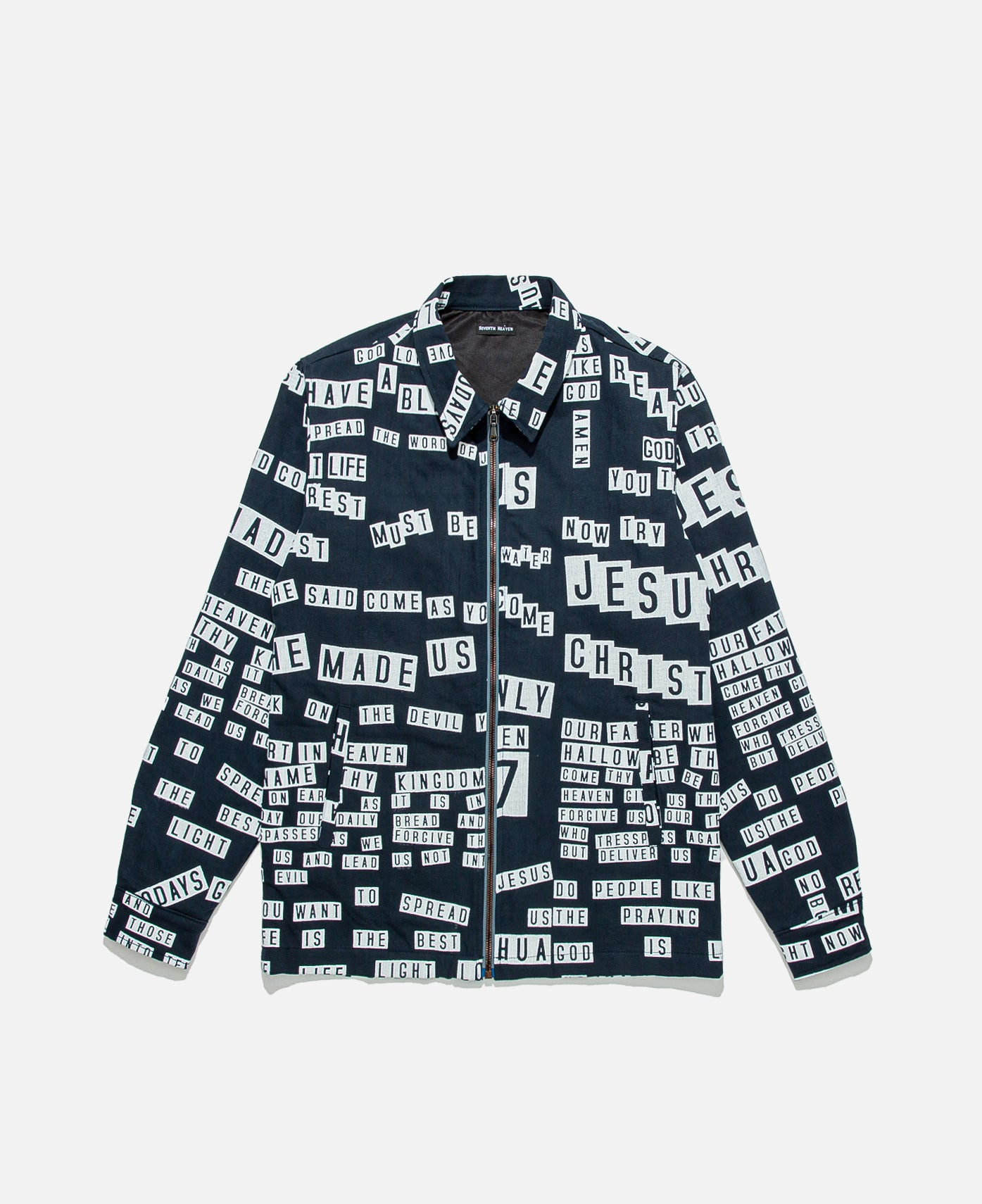 Bumper Sticker All-Over Work Jacket (Navy)