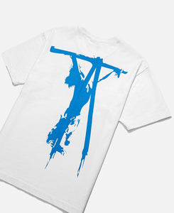 Medea Blue Cross T-Shirt (White)