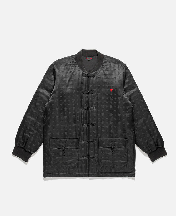 EU Heart Silk Jacket (Black)