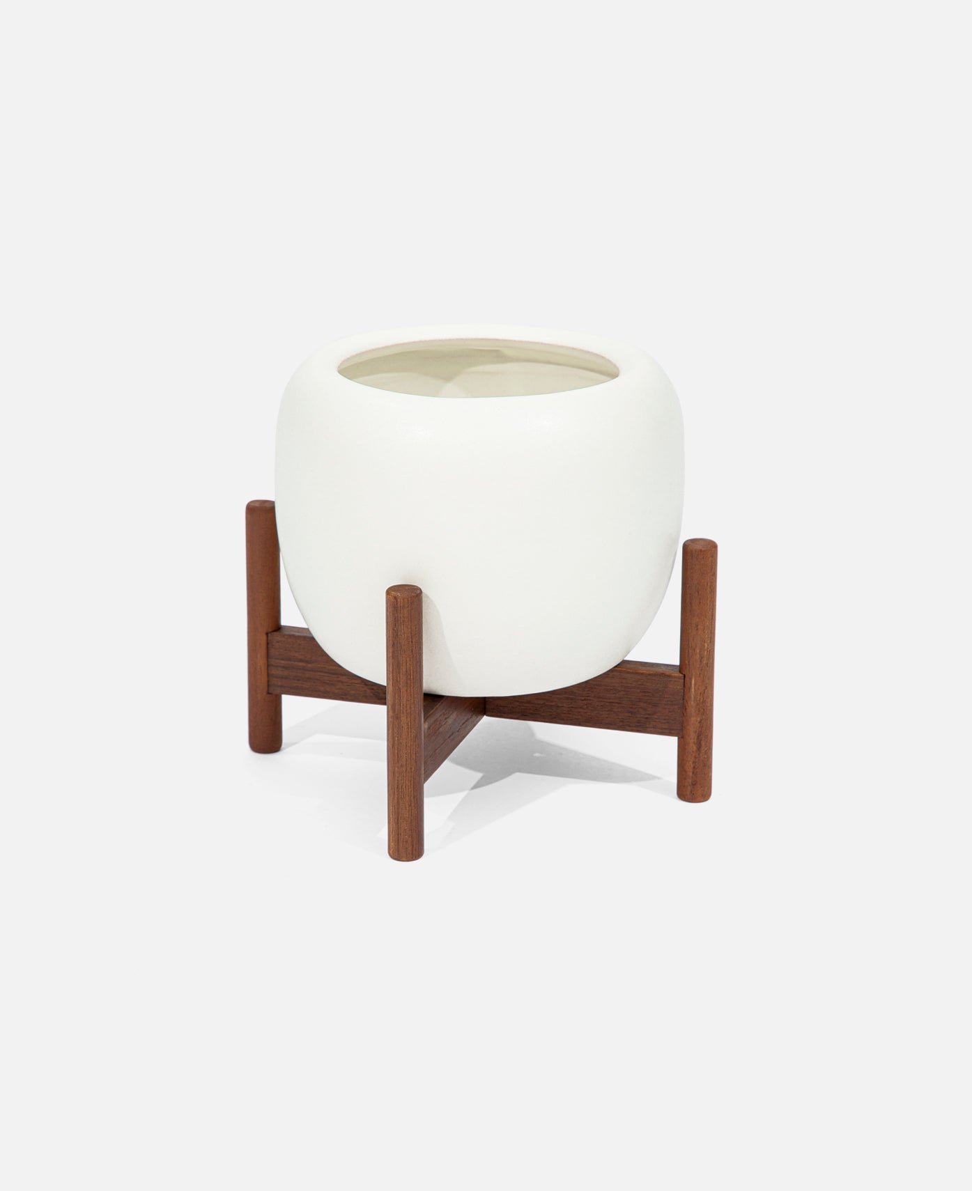 Case Study® Desk Top Drum With Wood Stand (White)