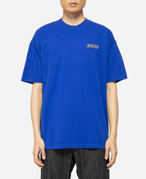 Gradient Logo & Wave T-Shirt (Blue)