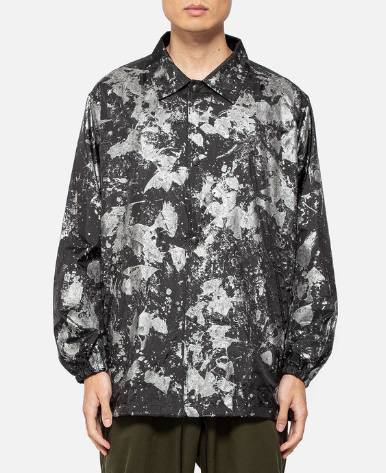 Reflective Paint Coach Jacket (Black)
