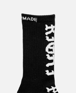 "3P ""Right Place"" Crew Socks (Black)"