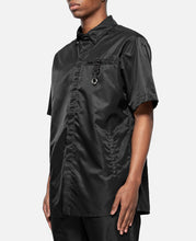 Black S/S Button Up With Buckle (Black)
