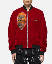 Velvet Bleach Jacket (Red)