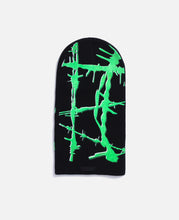 Wire Print Beanie (Black/Green)