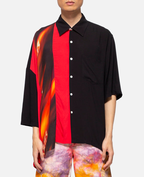 Deconstructed Hawaiian Shirt (Black)