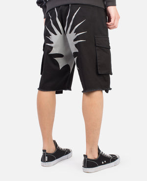 BLACK EGRA REFLECTIVE SHORTS